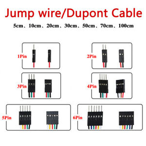 F f F m M m Jump Wire 1 2 3 4 5 6 Pin Dupont Cable 5 10 20 30 50 70 100cm