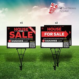 Web Enabled For Sale By Owner Real Estate Kit No Commission For Sale Signs 3