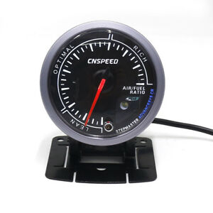 2 5 60mm Step Motor Dual Color Led Car Air Fuel Ratio Gauge Monitor With Holder