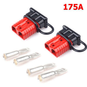 2x 2 4 Gauge 175a Battery Cable Quick Connect Disconnect Plug Kit Winch Trailer