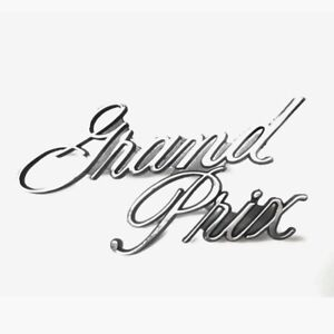 1973 79 Grand Prix Header Panel Emblem Gm 498675