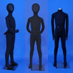 New Totally Flexible And Bendable Arms And Legs K11 sb Kid Mannequin In Black