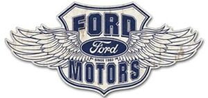 Ford Winged Logo Vintage Style Metal Signs Man Cave Garage Decor 69 Xxxl