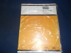 Case Fleetline 25 4 Xp Trencher Parts Book Manual H15719