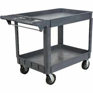 Strongway 500lb utility Cart 6in Flat free Tires 46 7 8inwx25 3 4indx34 5 8inh