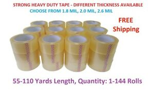 2 Strong Clear Packing Tape For Packaging Carton Box Moving Shipping Tape Gun