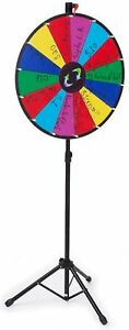 Prize Wheel With Height adjustable Floor Stand 24 Write on Surface For Wet O