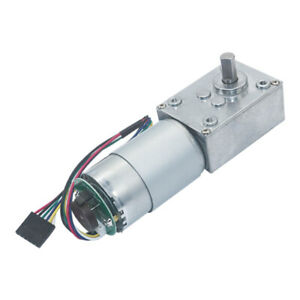 Dc12v 24v 5840 555 Turbo Worm Speed Reduction Gear Motor Code Disk With Encoder
