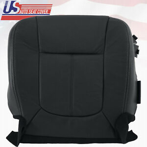 2011 2016 Ford F250 Lariat Passenger Bottom Perforated Leather Seat Cover Black