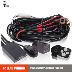 Wiring Harness Fuse Laser Remote Control Switch Relay For Led Fog Light 12v 24v