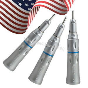 3x Fit Nsk Dental Slow Low Speed Handpiece Straight Nose Cone Contra Angle usa