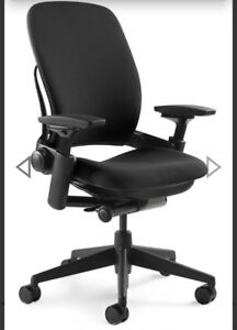 Steelcase Leap Chair V2 open Box Fully Loaded Black Fabric
