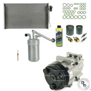New Ac A C Compressor Condenser Kit Fits 1996 1998 Ford Mustang V6 3 8l