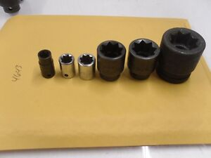 4643 Mac Tools 3 8 1 2 Drive Double Square Socket Set 3 8 To 3 4 Impact 7 8