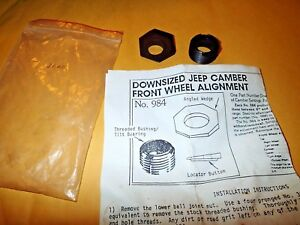 Nos Downsized Jeep Camber Front Wheel Alignment Kit Part No 984