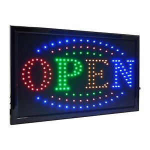 21 5 x13 Large High Visible Led Light Business Open Sign With Chain On off B