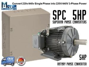Rotary Phase Converter 5 Hp Create 3 Phase Power From Single Phase Supply