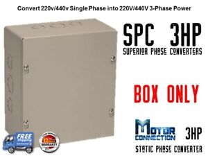 Static Phase Converter 3 Hp Create 3 Phase Power From Single Phase Supply