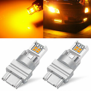 2x Amber Yellow Car 3157 33 smd Turn Signal Led Lights Bulb 3457 3057 3047 4157