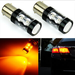 Jdm Astar 2x Amber Yellow 1156 Ba15s High Power Led Car Turn Signal Light Bulbs