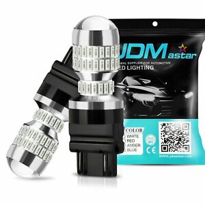 Jdm Astar 2x Pure Red 3157 3156 50w High Power Led Brake Stop Tail Lights Bulbs