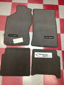 1995 2004 Tacoma Xtra Cab Carpet Floor Mats Light Charcoal Gray Genuine Toyota