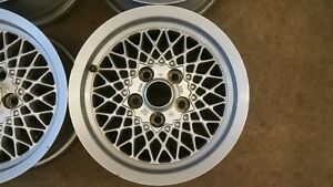 Jaguar Alloy Wheels 1994 Xjs Bbs Style Alloy Basket Weave Pair