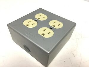 Red Dot 2ih3 1 1 2 Weather Proof Outlet Box With 2x 125vac 15a Outlets