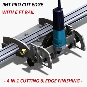 Imt Pro Cut Edge Makita Motor Rail Saw Grinder Polisher For Granite 6 Ft Rail