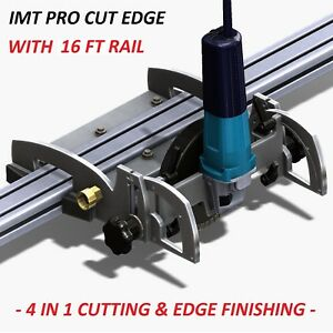 Imt Pro Cut Edge Makita Motor Rail Saw Grinder Polisher For Granite 16 Ft Rail