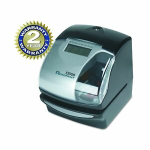 Acroprint Es900 Electronic Payroll Recorder time Stamp numbering Machine No Tax