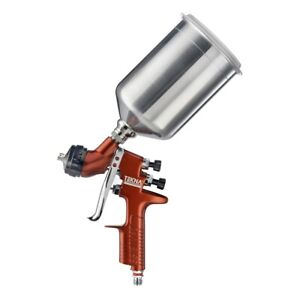 Tekna Copper Gravity Feed Spray Gun With 1 3 And 1 4 Needle