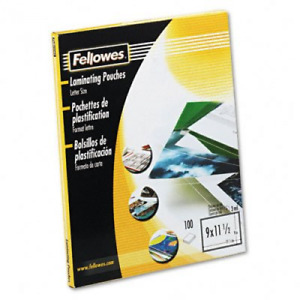 Fellowes 52454 Laminating Pouches 100pk Clear