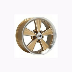 17 X 8 Hurst Wheels Set Of 4 Gm Retro Gold Machined With Gold Accents