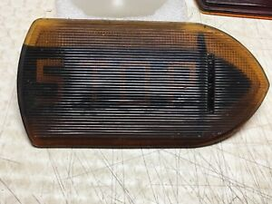 Vintage Guide R T5a Stop Turn Signal Light Fire Truck Bus Old Amber Glass Lens