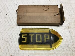 Nos Nib Vintage Guide R T5a Stop Turn Signal Light Fire Truck Bus Old Glass Lens
