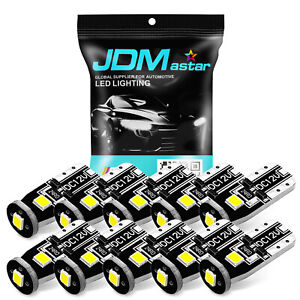 Jdm Astar 10x T10 Wedge White Smd Led Interior Lights Bulbs 194 168 2825 W5w 175