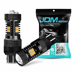Jdm Astar 7440na Super Amber Yellow Led Turn Signal Blinker Parking Lights Bulbs