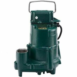 Zoeller E98 0004 1 2 Hp Cast Iron Submersible Sump Effluent Pump non aut