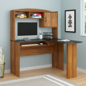 Tall Corner Desk With Hutch Home Office Student Computer Desks L Shape Storage