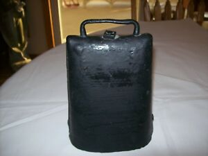 Vintage Antique Riveted Iron Hand Forged Primitive 8 Large Cow Bell W Clapper