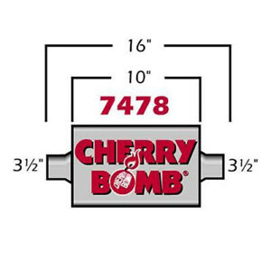 Cherry Bomb 3 5 Extreme Muffler 4 X 10 Oval Center center 3 1 2 In Out Id