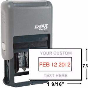 Xstamper Classix Custom stamp Self Inking new p40 Ink