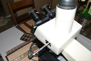 Olympus Bhs Microscope With 5 S Plan Objectives And Trinocular Head