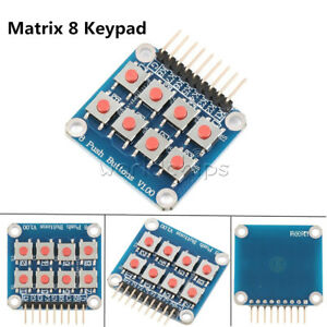 Matrix 8 Keypad Keyboard 8 Push Button V1 00 Tactile Switch For Arduino Avr Pic