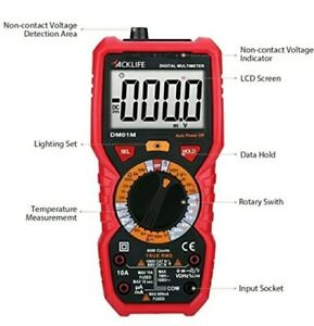 Advanced Digital Multimeter Manual Range Trms Multi Tester