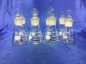8ea 25ml Jointed Erlenmeyer Flask W solid Glass Stopper