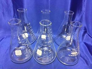 6ea 1 Liter Narrow Mouth Erlenmeyer Flask