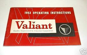 New Old Stock Original 1963 Valiant Owner S Manual