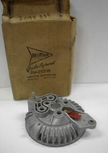 Nos nib Mopar Early 1960 s Alternator End Shield Max Wedge Clean Dates Logo
